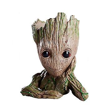 Bébé Groot, modèle d'homme d'arbre de figurines de planteur de pot de fleur