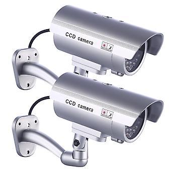 2 X idaodan وهمية كاميرا وهمية مراقبة الدوائر التلفزيونية المغلقة للاستخدام في الأماكن المغلقة أو في الهواء الطلق مع وامض أدى