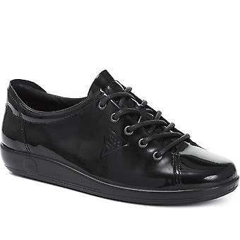 Ecco Womens Soft 2.0 Lace-Up Leather Trainer