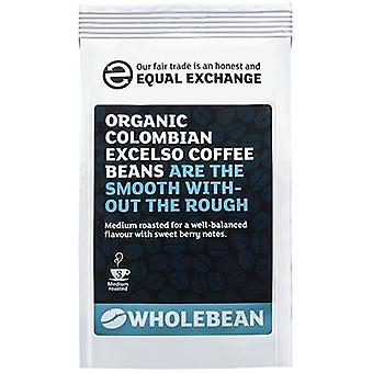 Lige Exchange Økologisk colombianske Excelso kaffebønner 227g x8