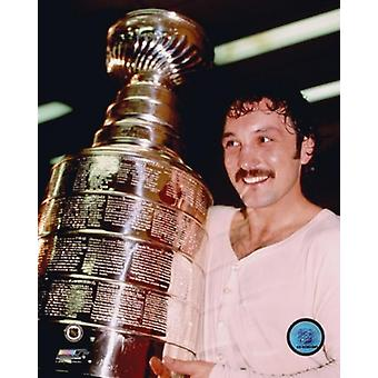 Bryan Trottier med kopp Photo Print