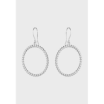 Kalevala Earrings Women's Circle of Light Silver 2669481K