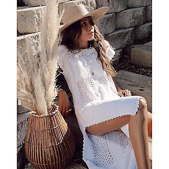 Tricoté Beach Dress Beach Cover-up Crochet Tunic Beach Suit