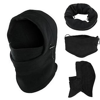 6 In 1 Hals Balaclava, Winter Face Hat, Fleece Hood Ski Mask, Warme Helm /hoed