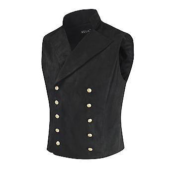 Homme's Slim-fit Double-breasted Costume Collar Vest