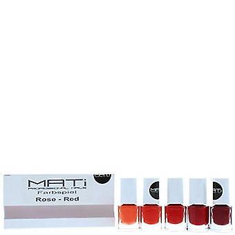 MATi Professional Nails Gift Set Red Rose 5 x 5ml Nail Polish