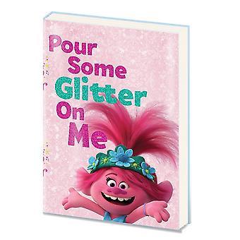 Trolls World Tour Pour Sommige Glitter PVC A5 Notebook