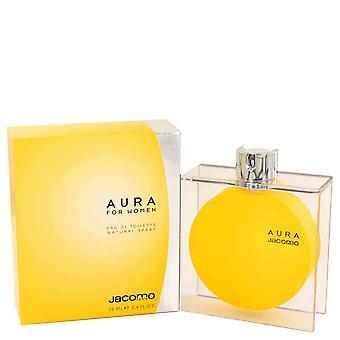 AURA by Jacomo Eau De Toilette Spray 2.4 oz / 71 ml (Women)