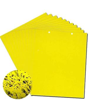 100pcs Strong Fly Traps Bugs Sticky Board, Insects Pest Control Glue Sticker
