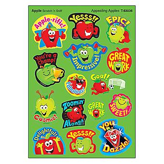 Appealing Apples/Apple Mixed Shapes Stinky Stickers, 60 Count