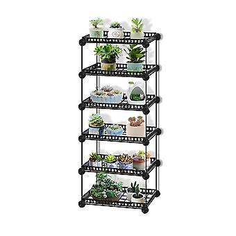 Durable Metal Plant Shelves Flower Pot Holder Garden Rack Display Stand