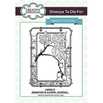 Expressões Criativas Jennifer's Acorn Journal Pre Cut Stamp Co-ords With CED4334