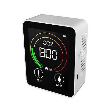 Co2 मीटर तापमान और आर्द्रता डिटेक्टर पोर्टेबल वायु गुणवत्ता मॉनिटर