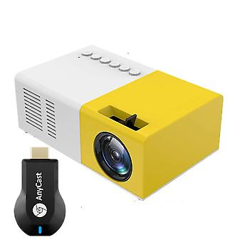 Mini Projector Support 1080p Video With M2 Mirascreen Wireless Screen Mirroring