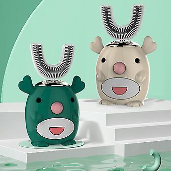 U-vormige elektrische tandenborstel 360 graden reiniging cartoon patroon slimme tandenborstel silicium automatische ultrasone tanden tanden tandenborstel