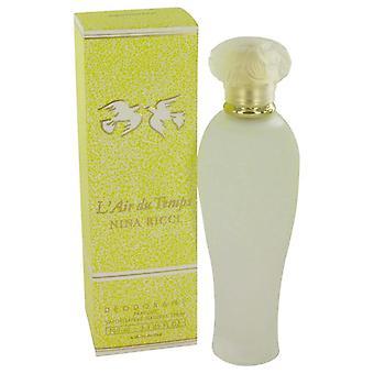 L'air Du Temps Deodorant Spray By Nina Ricci 3.3 oz Deodorant Spray