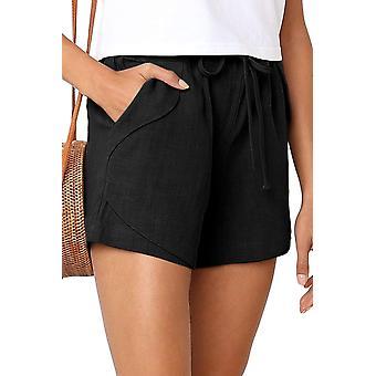 Letní černé faylin ležérní dámské šortky