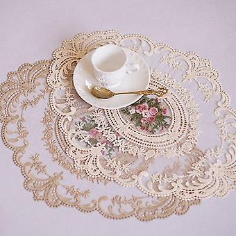 Stół stołowy Haft Craft Placemat Lace Fabric Insulation Plate Mat