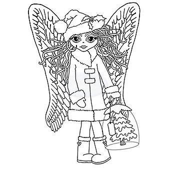 Polkadoodles Sello claro - Jaula de árbol de ángel A6