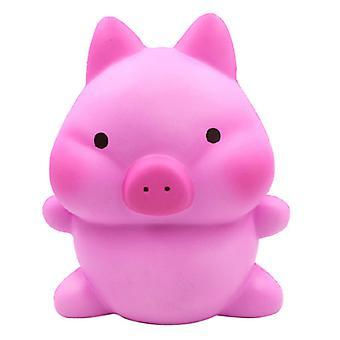 Langsom rebound Overdimensjonert rosa gris squishy, stressavlastende leketøy for barn, voksen