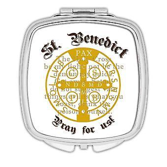 Lahja kompakti peili: St. Benedict katolinen