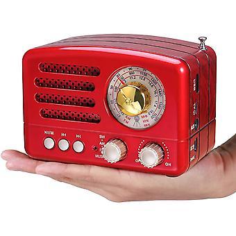 FengChun J-160 AM/FM/SW Kleines Vintage Radio mit Bluetooth, Tragbares Retro Radio mit 1800mAh