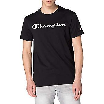 Champion Legacy Classic Logo T-Shirt, Preto, X-Grandes Homens