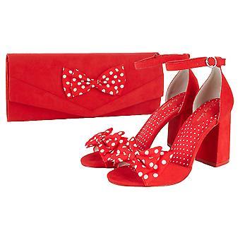 Ruby Shoo Dorry Punainen Peeptoe Sandal jousella