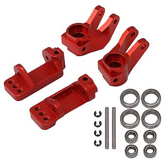 4x RC Car 1:10 Caster Block Steering Blocks Replacement for Traxxas Red