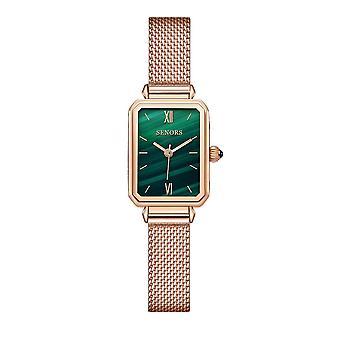 Ladies watch malachite green