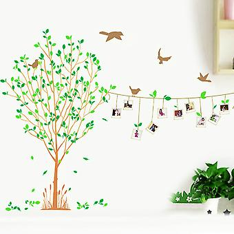 Regenboghorn Tree With Photo Frames Wall Decal Sticker
