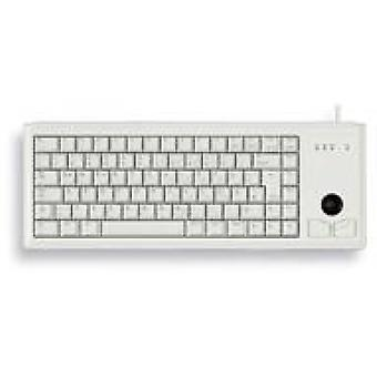 Cherry G84-4400 Compact Trackball USB Keyboard Light Grey UK Lyout