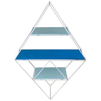 Niebieska półka geometryczna z drutu