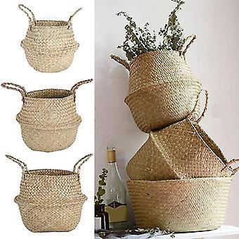 Flower Baskets Wicker Storage Basket Laundry Storage Decorative Basket Rattan Flower Pot Garden