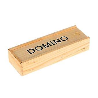 Sort Træ Domino Byggesten Domino brætspil Videnskab Undervisning Domino Legetøj