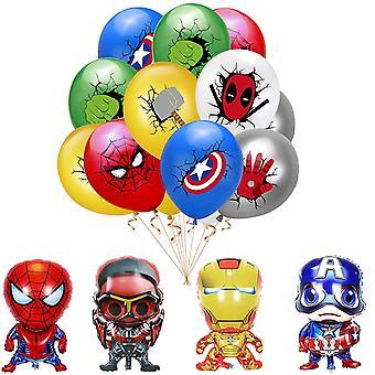 Superhelden Deko Geburtstag Avengers Party Supplies Dekorationen Superhelden Latexballons Superhelden