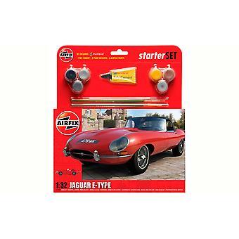 Jaguar E-Type (Starter Set with paints  glue and brushes) [Kit]