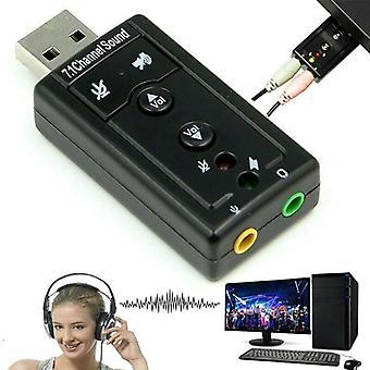 Externí usb 7.1 kanál 3D audio audio karta adaptér převodník pro PC desktop