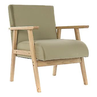 Armchair DKD Home Decor Green Polyester Wood MDF (62 x 62 x 77 cm)