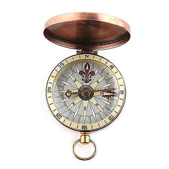 Navigationskompasse Vintage Kupfer Flip Cover Metall Taschenuhr Kompass
