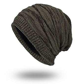 Tricotate Baggy Beanie-Oversize iarna Cald Hat (cafea)