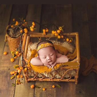 الدعائم التصوير حديثي الولادة المنسوجة سلة الروطان الأثاث