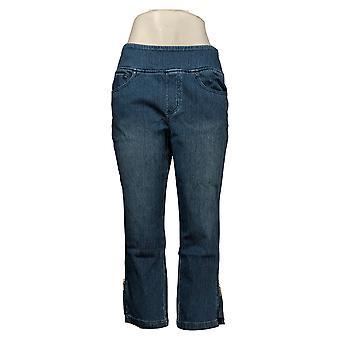 Belle av Kim Gravel Kvinners Flexibelle Pull-On Crop Jeans Blå A301822