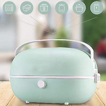 Portable Electric Lunch Box Stainless Steel Liner 220V Steamer Rice Cooker Home Office