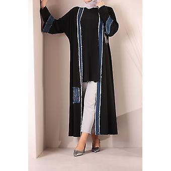 Blouse And Jean Detailed Kimono Set