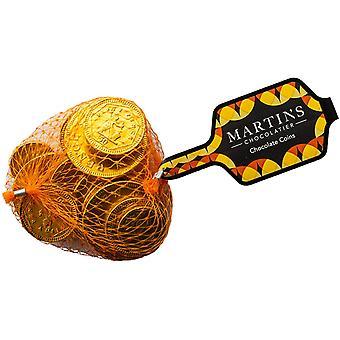 Martin's Chocolatier Chocolate Coins (3 Nets)   Net of Milk Chocolate Coins   Belgian Chocolate Gift