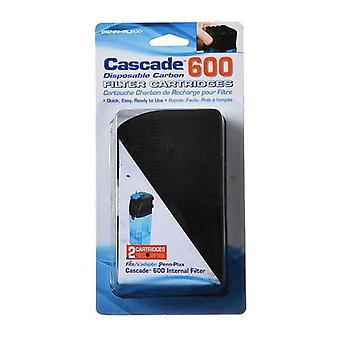 Cascade Internal Filter Disposable Carbon Filter Cartridges - Cascade 600 (2 Pack)