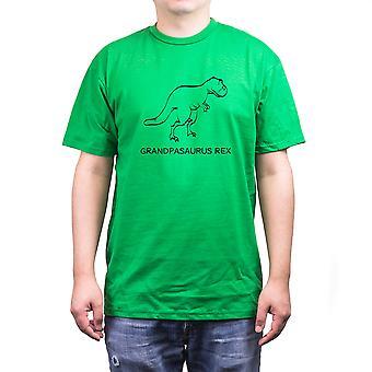 Grandpasaurus Rex grön skjorta för farfar Funny fäder dag present till morfar