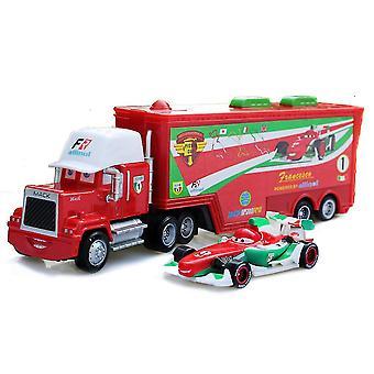 Autos Cargo Truck Anhänger Fi Allinol Racing Auto Diecast Alloy Autos Modell Spielzeug Kinder Geschenk