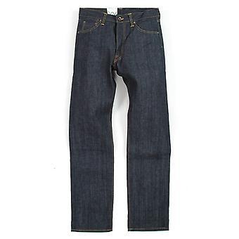 Edwin jeans Nashville raka ben röd selvedge denim-otvättad